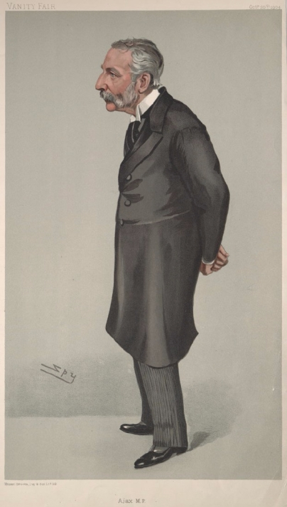 Richard_Claverhouse_Jebb MP, known as 'Ajax'. Vanity Fair, 1904